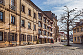 Old town church square in Erlangen, Middle Franconia, Bavaria, Germany