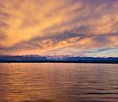 Dramatic cloud mood over Lake Starnberg, Bavaria, Germany