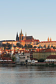 Prague Castle, Vltava River, Prague, Czech Republic