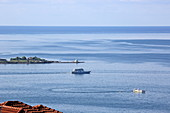 Gulf of Argostoli with the lighthouse on top, Argostoli, Kefalonia Island, Ionian Islands, Greece