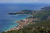 Der Poros an der Ostküste der Insel Kefalonia, Ionische Inseln, Griechenland