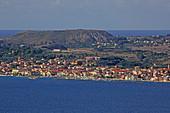The place Lixouri on the Paliki peninsula, Kefalonia island, Ionian islands, Greece