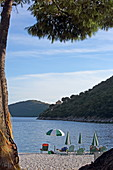 Mikro Gialos Beach is located on the south coast of Lefkada Island, Ionian Islands, Greece