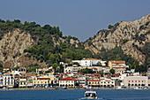 Zakynthos Stadt mit dem Aussichtsberg und dem Kastro, Insel Zakynthos, Ionische Inseln, Griechenland
