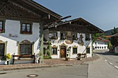 Traditionelle Häuser in Wallgau, Bayern, Deutschland