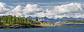 View of the Lofoten Islands, Bognes, Ofoten, Nordland, Norway