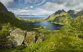 Straumvatnet, Straumfjellet, Hamaroy, Ofoten, Nordland, Norway