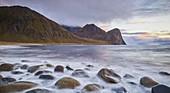 Helligberget, Unstad, Vestvagoya, Lofoten, Nordland, Norway
