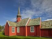 Flakstad Church, Flakstadoye, Lofoten, Nordland, Norway