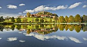 Bathing lake, Riegersburg, Styria, Austria