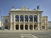 Vienna State Opera from Opernring, 1st district Innere Stadt, Vienna, Austria