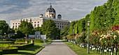 Rose garden, Natural History Museum, Volksgarten, 1st district Innere Stadt, Vienna, Austria