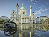 Karlskirche, Karlsplatz, 4th District Wieden, Vienna, Austria