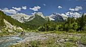 Bettelkarspitze, Schaufelspitze, Sonnjoch, Rissbach, Risstal, Karwendel, Tyrol, Austria