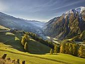View into the Mölltal, Grossglockner High Alpine Road, Carinthia, Austria