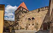 City wall in Kronach, Bavaria, Germany