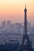 France, Paris area listed as World Heritage by UNESCO, the Eiffel Tower and La Defense