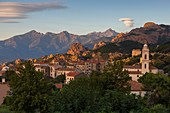 France, Corse du Sud, Gulf of Porto, listed as World Heritage by UNESCO, Piana, labeled the Most Beaul Villages of France