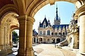 France, Seine Maritime, Pays de Caux, Alabaster Coast, Fecamp, the Gothic Revival and Neo-Renaissance Benedictine Palace, built in the late 19th century, is both the place of production of Benedictine liqueur and Museum