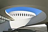 France, Seine Maritime, Le Havre, city rebuilt by Auguste Perret listed as World Heritage by UNESCO, space Niemeyer, Little Volcano designed by Oscar Niemeyer, library