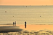 France, Seine Maritime, Le Havre, city rebuilt by Auguste Perret listed as World Heritage by UNESCO, the beach