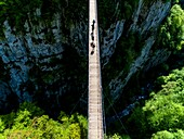 France, Pyrenees Atlantiques, Basque Country, Haute Soule valley, the footbridge of Holzarte, Olhadubi canyon, Gave de Larrau