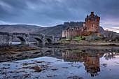 Eilean Donan Castle on Loch Duich in the Scottish Highlands, Scotland, United Kingdom, Europe