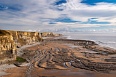 Dramatic coastline of Glamorgan Heritage Coast near Dunraven Bay, South Wales, United Kingdom, Europe