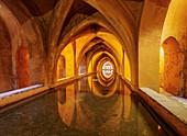 Banos de Dona Maria de Padilla, Baths of Lady Maria de Padilla in Alcazar, UNESCO World Heritage Site, Seville, Andalusia, Spain, Europe