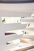 Library and Learning Center by architect Zaha Hadid, of Vienna University of Economics and Business (Wirtschaftsuniversitat Wien), Vienna, Austria, Europe