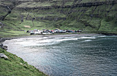 The little village of Tjornuvik, Faroe Islands, Denmark, Europe