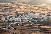 Small Greek village at sunset, Paros Island, Cyclades, Greek Islands, Greece, Europe