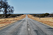 Long road in the middle of nowhere, Namibia, Africa