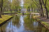 Hofgarten und Neues Schloss in Bayreuth, Bayern, Deutschland