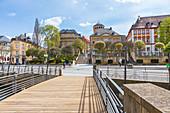 La-Spezia-Platz in Bayreuth, Bayern, Deutschland