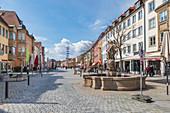 Maximilianstraße in Bayreuth, Bayern, Deutschland