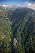 Switzerland,Monte Rosa,Green mountain landscape