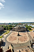 View over the roofs of the Semperoper in Dresden, Germany