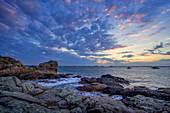 Morning mood on the Breton coast, Brittany, France, Europe