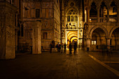At night in front of the Palazzo Ducale, Venice, Veneto, Italy, Europe