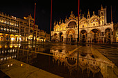 St. Mark's Square, Piazza San Marco with St. Mark's Basilica, Venice, Italy, Europe
