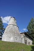 historical lime kiln, Lenggries, Isarwinkel, Upper Bavaria, Bavaria, Germany