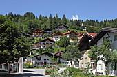 Houses at Sonnenbichl, Mittenwald, Upper Bavaria, Bavaria, Germany