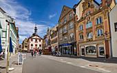 Marktplatz in Bad Kissingen, Bayern,  Deutschland