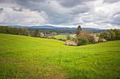 Ehemalige innerdeutsche Grenze zwischen Thüringen und Bayern bei Eisfels, Thüringen, Deutschland