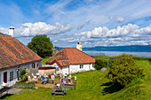 Cafe on the fortress island of Munkholmen, Trondheim, Norway