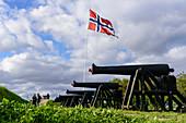 Kanonen auf der Festung Kristiansten, Trondheim, Norwegen