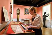 Demonstration, instrument exhibition in the Ringve Music Museum, Trondheim, Norway
