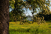 The park and the back of Villa Manin, a Venetian villa from the 1600s, with its 1600 trees, a green oasis in the Po valley in the province of Udine, Friuli Venezia Giulia.