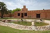 Gärten des Sheikh Zayed Palace Museum (Al Ain Palace Museum), Al Ain, Abu Dhabi, Vereinigte Arabische Emirate, Naher Osten
